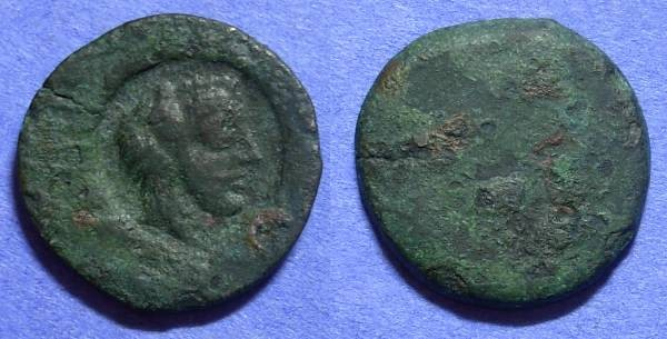 Ancient Coins - Akragas Sicily – AE 25 – Counterstamped issue Circa 405-392BC