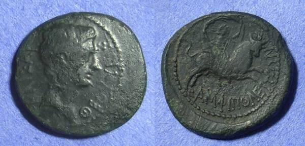 Ancient Coins - Amphipolis Macedonia – Augustus 27BC-14AD -AE21