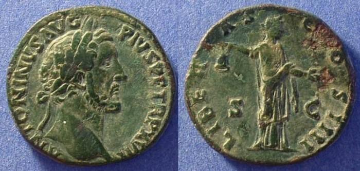 Ancient Coins - Antoninus Pius 138-161AD Sestertius