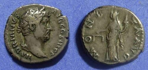 Ancient Coins - Roman Empire Hadrian 117-138 Denarius