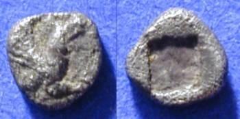 Ancient Coins - Teos Ionia - tetartemorian (1/4 obol) - Circa 525 BC