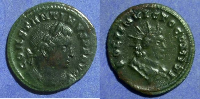 Ancient Coins - Constantine 307-337 Follis (23mm)