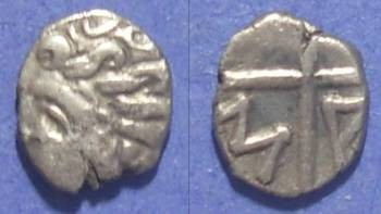 Ancient Coins - Celtic Gaul, Imit of a Massalia issue Circa 150 BC, Obol