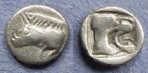 Ancient Coins - Mysia Kyzikos, Contemporary imitation Circa 450 BC, Hemiobol