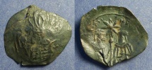 Ancient Coins - Byzantine Empire, Andronicus II with Michael IX 1295-1320, Trachy