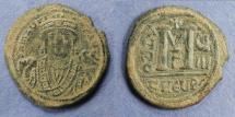 Ancient Coins - Byzantine Empire, Maurice Tiberius 582-602, Follis