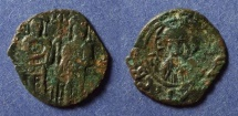 Ancient Coins - Byzantine Empire, Andronicus II with Michael IX 1282-1328, Assarion