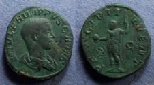 Ancient Coins - Roman Empire, Philip II (as Caesar) 244-7, Sestertius