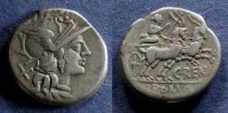 Ancient Coins - Roman Republic, C Renius 138 BC, Denarius