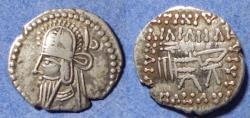 Ancient Coins - Parthian Kingdom, Vologases VI 208-228, Silver Drachm