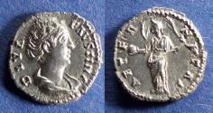 Ancient Coins - Roman Empire, Diva Faustina Sr d. 141, Denarius