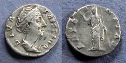 Ancient Coins - Roman Empire, Faustina Sr. d. 141, Denarius