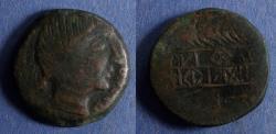 Ancient Coins - Spain, Obulco Circa 150 BC, AE28
