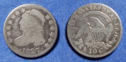 Us Coins - United States,  1827, Silver Capped Bust Dime