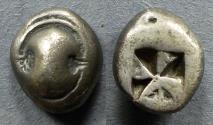 Ancient Coins - Boeotia, Tanagra 500-480 BC, Drachm