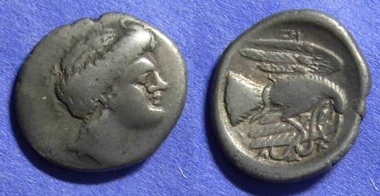 Ancient Coins - Chalkis Euboea - Drachm 340-294 BC