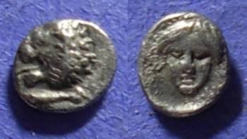 Ancient Coins - Mylasa Caria – Tetartemorion – 420-380BC