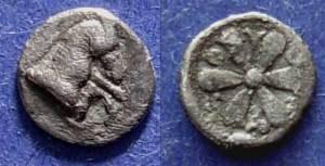 Ancient Coins - Kyme, Aiolis Circa 350 BC, Hemiobol