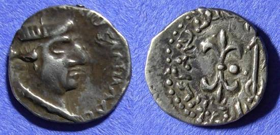 Ancient Coins - India - Western Kshatrapas - Nahapana 32-77AD Drachm