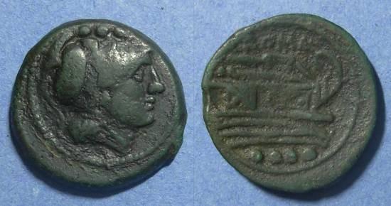 Ancient Coins - Roman Republic, Anonymous 211-206 BC, Triens
