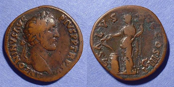 Ancient Coins - Antoninus Pius - 138-161 AD   Sestertius