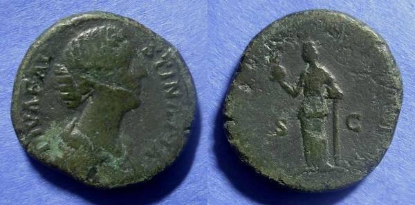 Ancient Coins - Roman Empire Faustina Jr (wife of M. Aurelius) d. 175 Sestertius