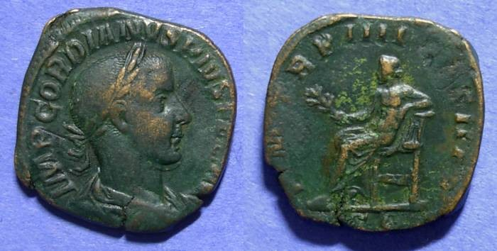 Ancient Coins - Roman Empire, Gordian III 238-244, Sestertius