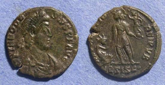 Ancient Coins - Roman Empire, Theodosius 378-395, AE 2