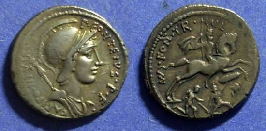 Ancient Coins - Roman Republic P Fonteius P f Capito 55 BC Denarius