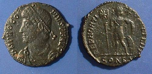 Ancient Coins - Procopius - Usurper in the east 365-6, Constantinople w/ D. Sear certification