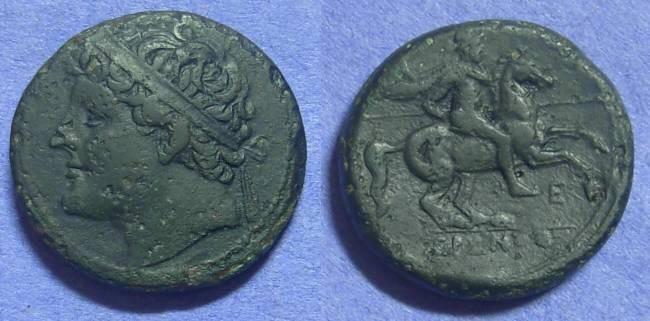 Ancient Coins - Syracuse Sicily - Hieron II 275-215BC – AE27
