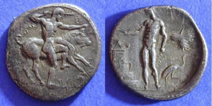 Ancient Coins - Selinos Sicily - Didrachm 460-440BC