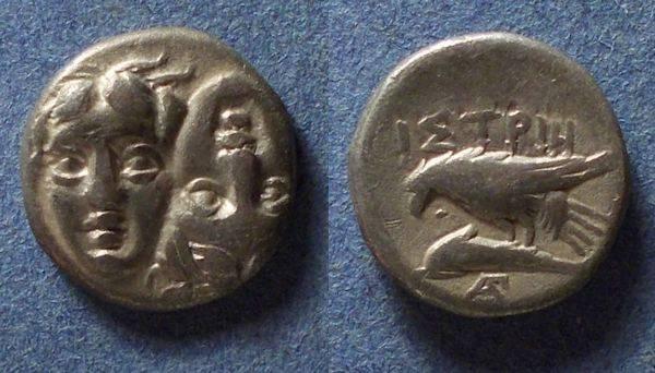 Ancient Coins - Istros, Thrace Circa 350 BC, Drachm