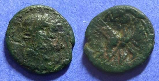 Ancient Coins - Leontini Sicily - AE17 Circa 200 BC (Roman times)