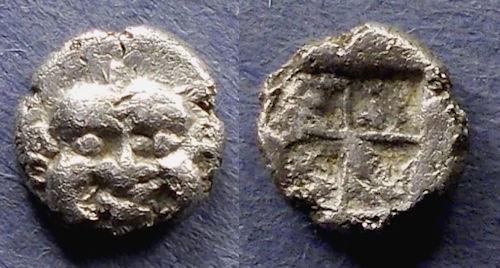 Ancient Coins - Macedonia, Neapolis 525-450 BC, Obol