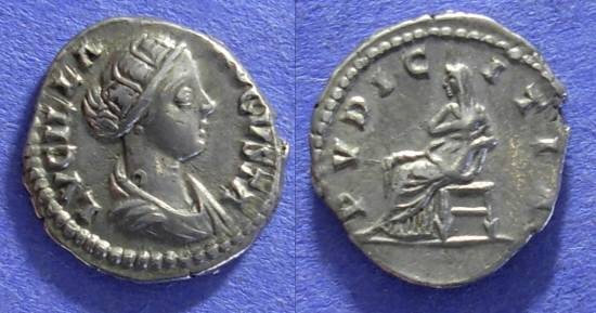 Ancient Coins - Roman Empire – Lucilla (wife of L. Verus) 161-9 – Denarius