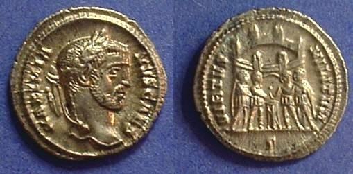 Ancient Coins - Galerius (as Caesar) 293-305AD Argenteus