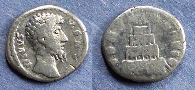 Ancient Coins - Roman Empire, Divus Verus d. 169, Denarius