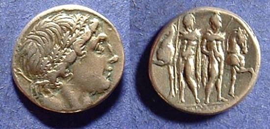 Ancient Coins - Roman Republic - Memmia 1 Denarius Circa 109-8BC