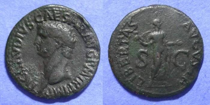 Ancient Coins - Claudius 41-54AD Aes