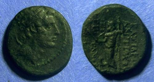 Ancient Coins - Seleucid Kingdom, Antiochos IV 175-164BC, AE19