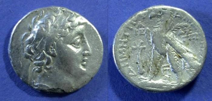 Ancient Coins - Seleucid Kingdom, Demetrius II 129-125 BC, Tetradrachm