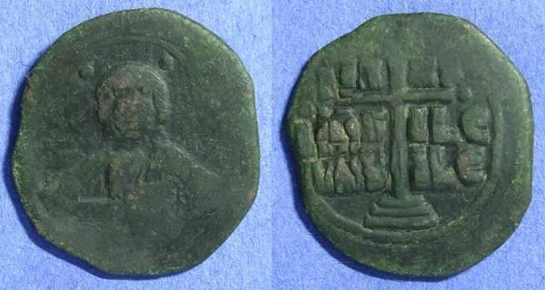 Ancient Coins - Byzantine Empire – Romanus III 1028-1034AD - Anonymous Class B Follis