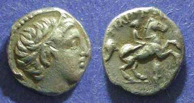 Ancient Coins - Macedonian Kingdom, Philip II 359-336 BC, 1/5 Tetradrachm