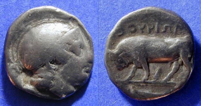 Ancient Coins - Thourioi Lucania - Stater Circa 370 BC