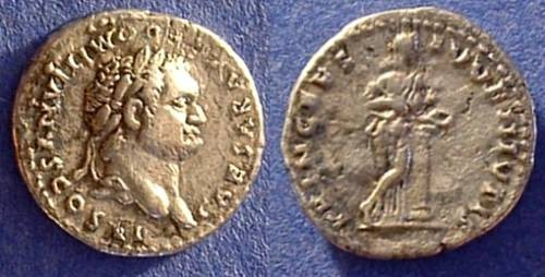 Ancient Coins - Domitian as Caesar under Vespasian 69-79AD Denarius