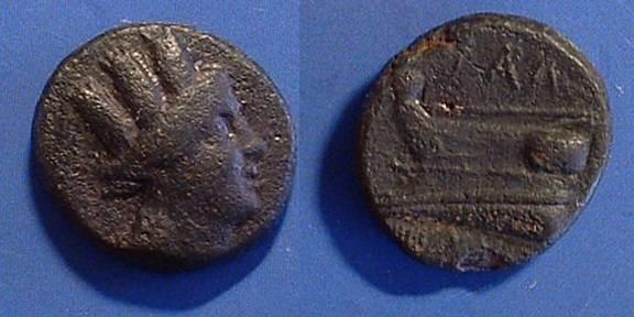 Ancient Coins - Arados Phoenicia, AE20   215BC