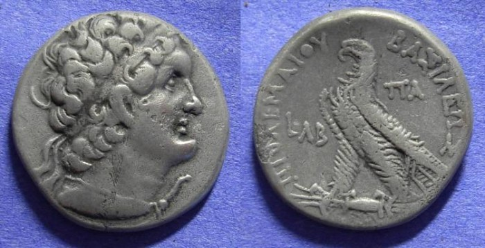 Ancient Coins - Ptolemy VI 180-145 BC - Tetradrachm