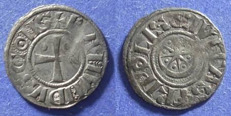 Ancient Coins - Crusader Tripoli, Raymond II or III 1137-1187, Denier
