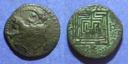 Ancient Coins - Knossos  Crete Circa 220 BC AE18